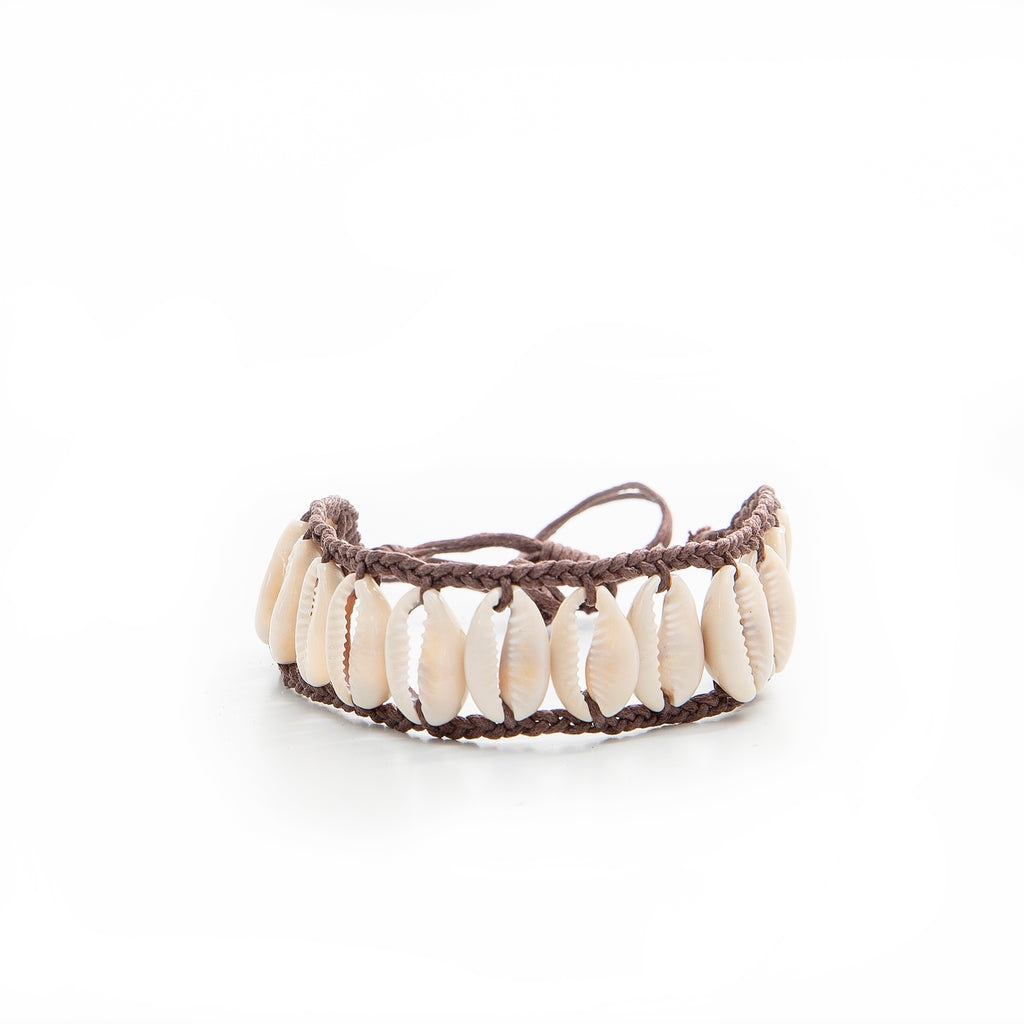 Shell anklet - brown