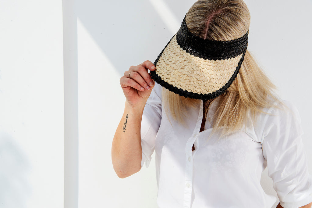 Sassy sun visor - natural / black