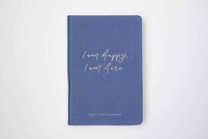 I am happy, I am here - Gratitude Journal PURPLE