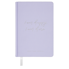 Load image into Gallery viewer, I am happy, I am here - Gratitude Journal PURPLE