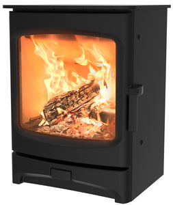 Charnwood Aire 5 Woodburning Stove Low Black Colour