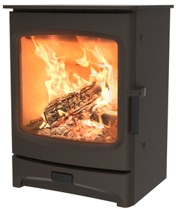 Charnwood Aire 5 Woodburning Stove Low Brown Colour