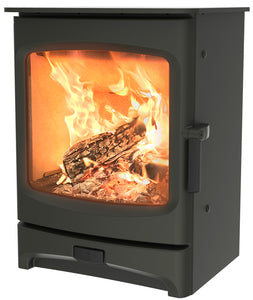 Charnwood Aire 5 Woodburning Stove Low Gunmetal Colour