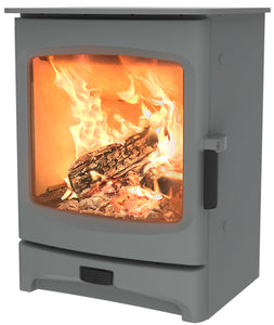 Charnwood Aire 5 Woodburning Stove Low Pewter Colour