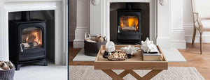 Arada Holburn Stove in Fireplace in Living Room Cream on Wood Colour Scheme Luxury Home