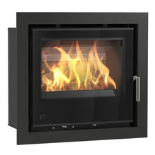 Load image into Gallery viewer, Arada I series Wood Burning Stove Full Glass Door Silver Handle Sleek Wide Screen Stove