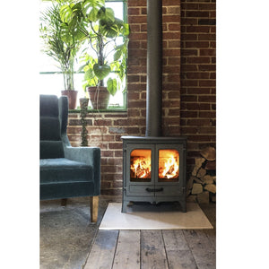 Charnwood All New Island I Woodburning Stove Double Door Living Room