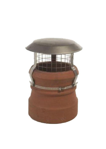 Anti Bird and Rain Cowl For Chimney Clay and Stainless Steel
