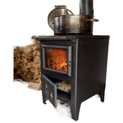 Bakeheart Rivercottage Stove Four Zone Hob Logs White Background Country living