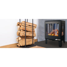 Load image into Gallery viewer, Evonic Banff3 Hot Ash Effect Side View of Acrylic Stove