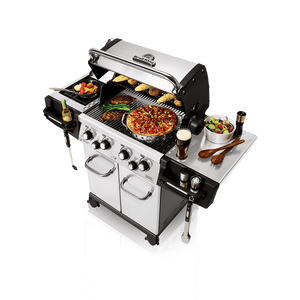 Broil King The Regal™ S490 Pro Infared Gas BBQ Top View open Lids