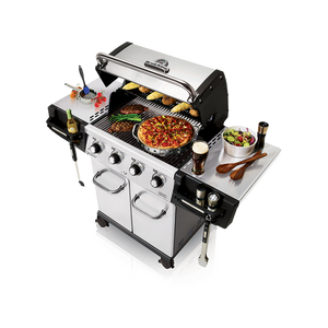 Broil King Regal 420 Pro Gas BBQ Top Cooking View
