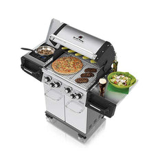 Load image into Gallery viewer, Broil King The Regal™ S490 Pro Gas BBQ Top Open Lid View Cooking Pizza Steaks