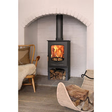 Load image into Gallery viewer, Charnwood C Eight Large Fireplace Space Log Storage Wood Burner Freestanding Wood Floors