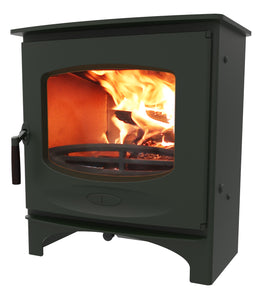 Charnwood C Seven Freestanding Wood Burning Stove Green