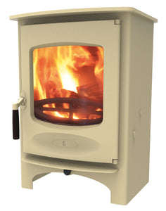 Charnwood C Six Freestanding Wood Burning Stove Almond