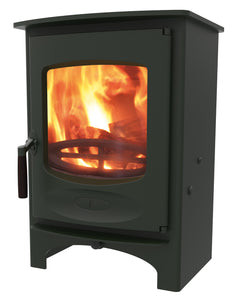 Charnwood C Six Freestanding Wood Burning Stove Green