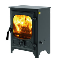 Load image into Gallery viewer, Charnwood Country 4 Wood Burning Fire Freestanding Wooden Handle Blue