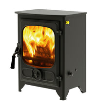 Load image into Gallery viewer, Charnwood Country 4 Wood Burning Fire Freestanding Wooden Handle Gunmetal