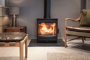 Charnwood Aire 7 Woodburning Stove Low Living Room Contemporary