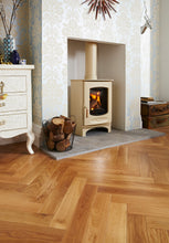 Load image into Gallery viewer, Charnwood C Eight Large Fireplace Space Log Storage Wood Burner Almond Interior Design