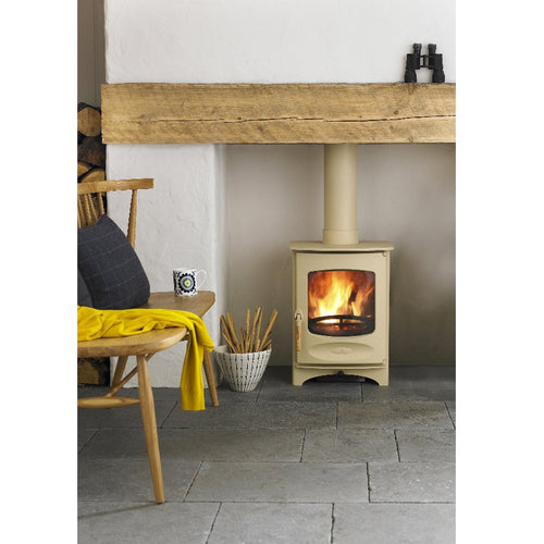 Charnwood C Four Freestanding Wood Burning Stove in Almond Small