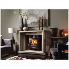 Load image into Gallery viewer, Charnwood C Seven Freestanding Wood Burning Stove in Marble Fireplace