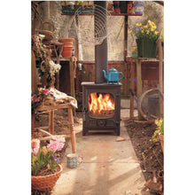 Load image into Gallery viewer, Charnwood Country 4 Wood Burning Fire Freestanding Wooden Handle Shed Garden Glass house heater