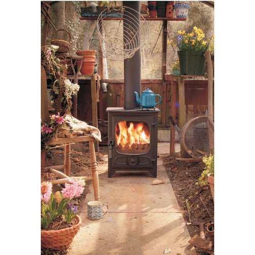 Charnwood Country 4 Wood Burning Fire Freestanding Wooden Handle Shed Garden Glass house heater