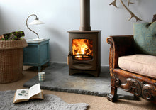 Load image into Gallery viewer, Charnwood C Four Freestanding Wood Burning Stove Small Living Room Antique Chair