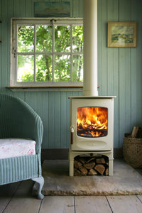 Charnwood C Four Freestanding Wood Burning Stove In Garden Shed Out House Pool House Conservatory