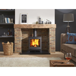 Dik Geurts Ivar 8 Low Zonder Handle Stacked Zone Fireplace Living Room