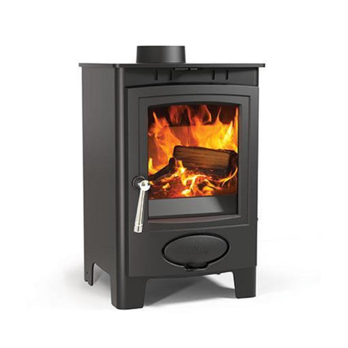 Ecoburn Plus 5 Wood Burning Contemporary Stove Black