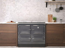Load image into Gallery viewer, Esse 990 Grey Electric Range Cooker in Fitted Kitchen