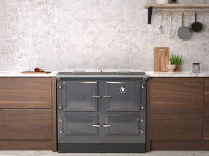 Esse 990 Grey Electric Range Cooker in Fitted Kitchen