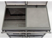Load image into Gallery viewer, Esse Electric 990 Top View Of Hob And Hotplate Both Lids Open Three Zone Induction