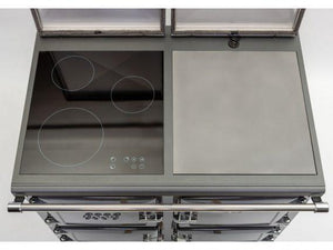 Esse Electric 990 Top View Of Hob And Hotplate Both Lids Open Three Zone Induction