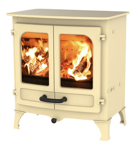 Charnwood All New Island I Woodburning Stove Double Door Almond Colour