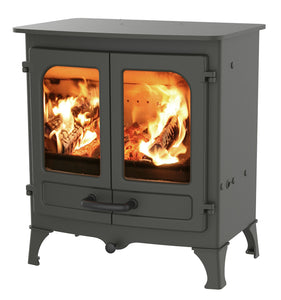 Charnwood All New Island I Woodburning Stove Double Door Black Colour