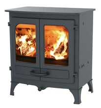 Load image into Gallery viewer, Charnwood All New Island I Woodburning Stove Double Door Blue Colour