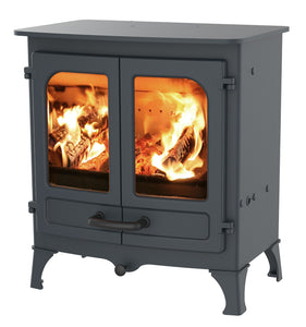 Charnwood All New Island I Woodburning Stove Double Door Blue Colour