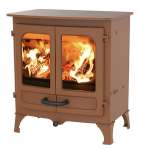 Charnwood All New Island I Woodburning Stove Double Door Bronze Colour