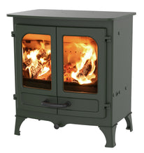Load image into Gallery viewer, Charnwood All New Island I Woodburning Stove Double Door Green Colour