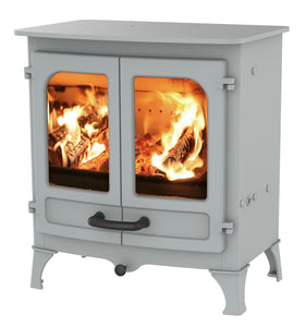Charnwood All New Island I Woodburning Stove Double Door Pewter Colour