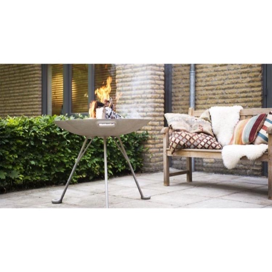 Lotus Outdoor Fire Pit in Garden on Terrace Wood Burning