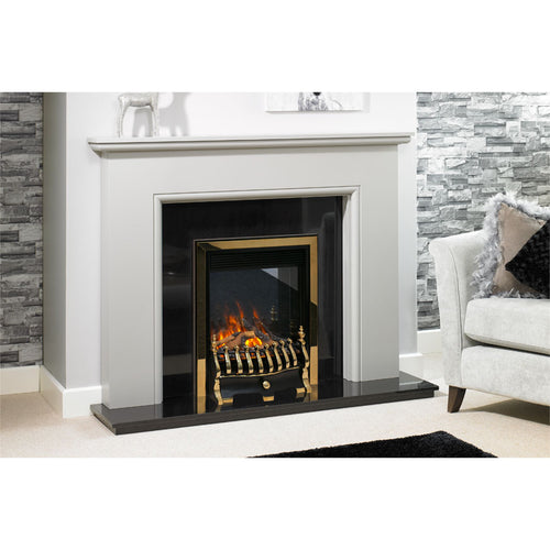 Evonic Nebraska in Brass Electric Fire Fireplace