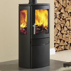 Neo 1/C 3/C Contemporary Freestanding Stove Wood Burner Logs Fire