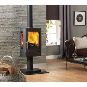 Neo 3/P Contemporary Pedestal Base Stove Wood Burner Logs Fire