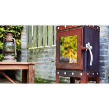 Load image into Gallery viewer, PIQUIA Outdoor Wood Stove Visible Bolts Nuts Traditional Industrial Garden Fire