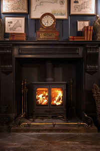 Charnwood All New Island I Woodburning Stove Double Door  in Lobby